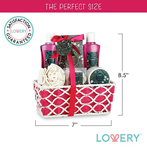 Home Spa Gift Basket - Rosemary Mint Scent - Best Mother's Day, Wedding, Anniversary or Graduation Gift for Women - Bath Gift Sets Includes Shower Gel, Bubble Bath, Salts, Lotion & More! - BelCorner