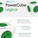 Wall Plug, Allocacoc PowerCube |Original|, 5 Outlets, Cell Phone Charger, Surge Protection, Compact for Travel, Home and Office, Space Saving, ETL Certified - BelCorner