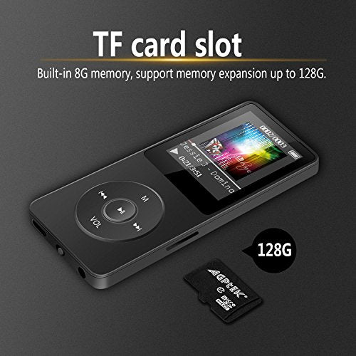 8GB & 70 Hours Playback MP3 Lossless Sound Music Player (Supports up to 128GB) - BelCorner