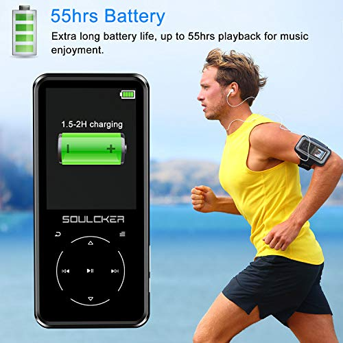MP3 Player, 16GB MP3 Player with Bluetooth 4.0, Portable HiFi Lossless Sound MP3 Music Player with FM Radio Voice Recorder E-Book 2.4'' Screen, Support up to 128GB - BelCorner