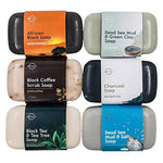 Natural 6-Piece Black Soap Bar Collection. 100% Natural. Organic Ingredients. Helps Treat Acne, Repairs Skin, Moisturizes, Deep Cleanse, Luxurious. Face & Body Women & Men. Triple Milled, Vegan 4oz - BelCorner