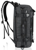 Ibagbar Canvas Backpack Travel Bag Hiking Bag Camping Bag Rucksack - BelCorner
