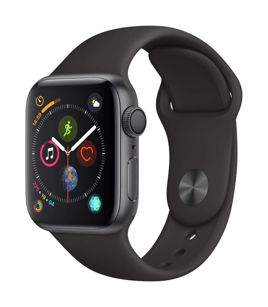 Apple Watch Series 4 (GPS, 44mm) - Space Gray Aluminium Case with Black Sport Loop - BelCorner