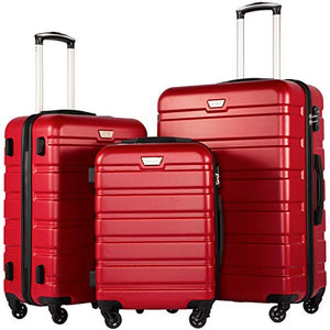 Luggage 3 Piece Set Suitcase Spinner Hardshell Lightweight TSA Lock - BelCorner