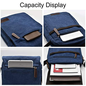 Canvas Messenger Bag, Sling Bag Crossbody Shoulder Bags for Travel Work Business Men, Women - BelCorner