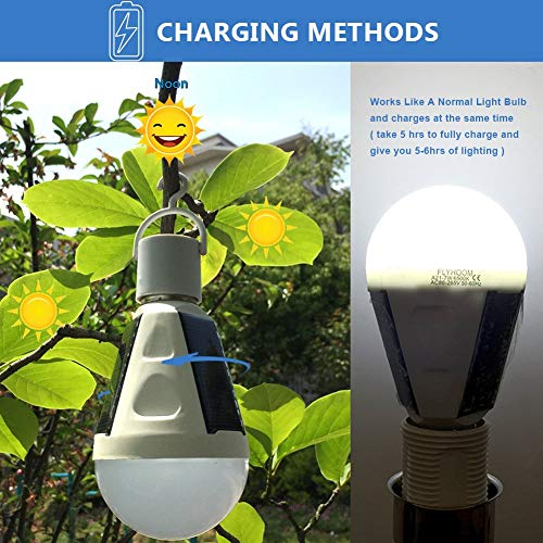 2 Pack Outdoor Solar LED Bulb - Solar Lamp- Emergency, Hurricanes, Power Outage, Water Resistant - BelCorner
