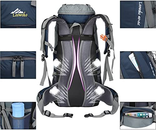 Hiking Backpack 50L Travel Camping Backpack with Rain Cover