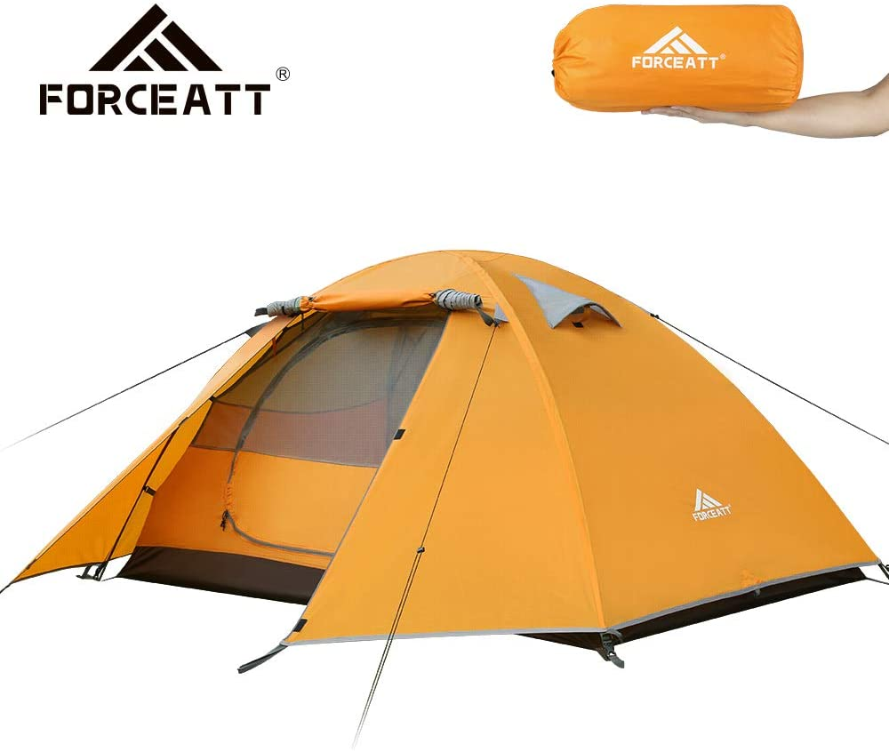 2 Person Camping Tent, Professional Waterproof & Windproof & Pest Proof. Lightweight Backpacking Tent Suitable for Outdoor and Travel
