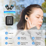 Pasavant Wireless Earbuds, Bluetooth Earbuds Bluetooth 5.0 TWS Wireless Earphones Auto Pairing Bluetooth Headset w Built-in Mic with Charging Case - BelCorner