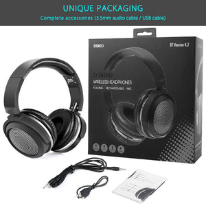 Wireless Bluetooth Headset Stereo Headphones with Microphone Support - BelCorner