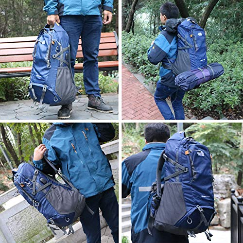 40L / 50L / 60L Lightweight Travel Hiking Backpack Anti-Theft College Backpack with USB Charging Port, Water Resistant, Traveling & Climbing Camping Touring Mountaineering