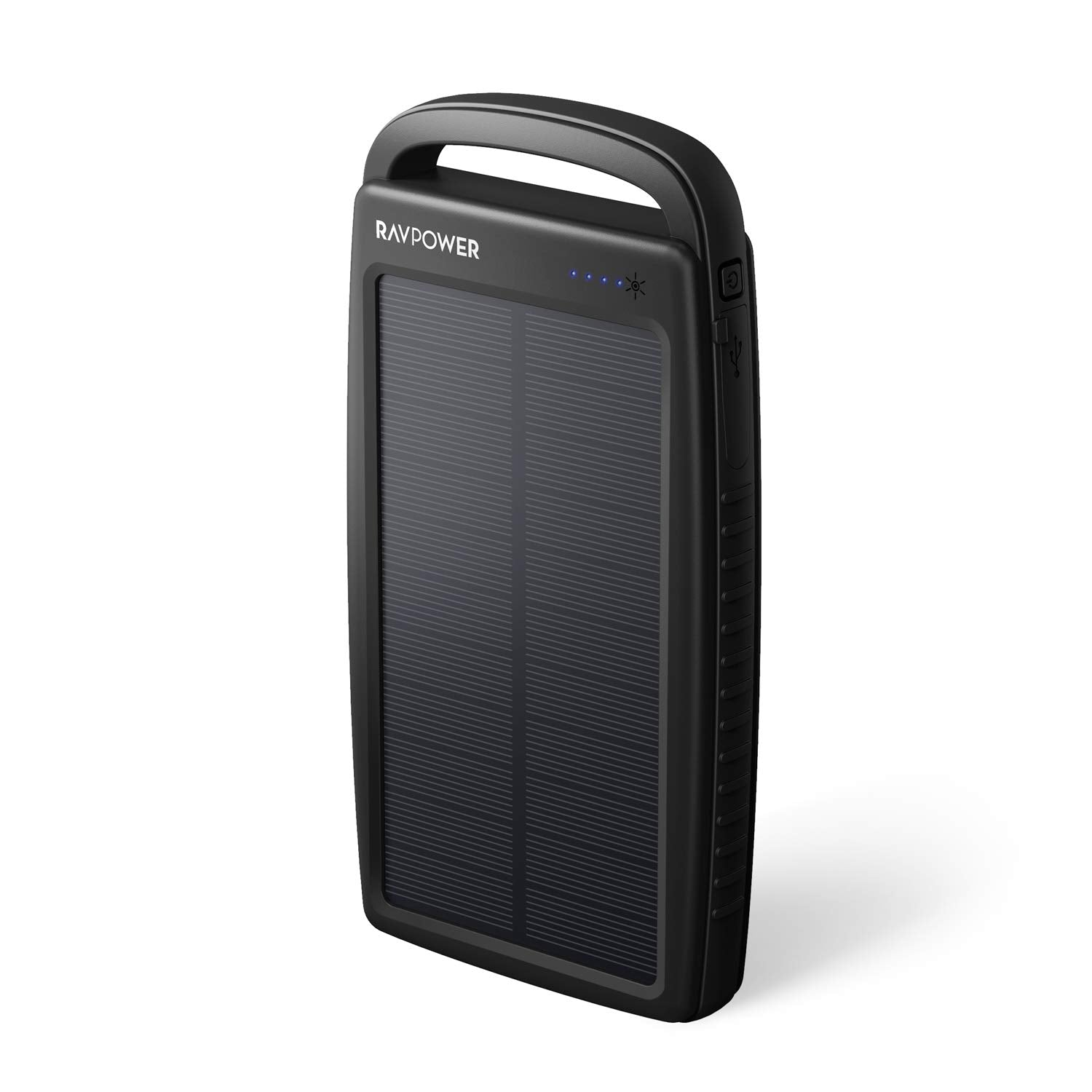 Solar Charger 20000mAh RAVPower Portable Charger Solar Power Bank with Dual 2.4A Outputs, External Battery Pack with Flashlight for Smartphones, Tablets and More - BelCorner