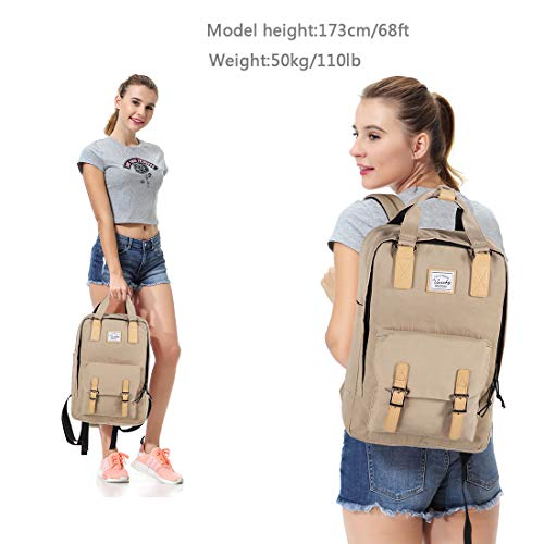 School Backpack for Men and Women,Unisex Vintage Water Resistant Casual Daypack Rucksack Bookbag for College Fits 15inch Laptop Backpack - BelCorner