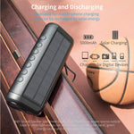 Solar Bluetooth Speaker with 5000mAh Power Bank, Elzle Portable Outdoor Bluetooth Speaker 50+ Hours Playtime Stereo Paring 12W Subwoofer, IPX6 Waterproof Portable Wireless Speaker for Outdoor & Indoor
