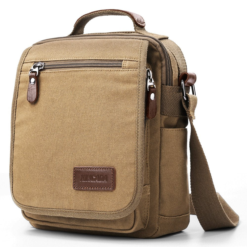 Mens Bag Messenger Bag Canvas Shoulder Bags Travel Bag Man Purse Crossbody Bags for Work Business - BelCorner