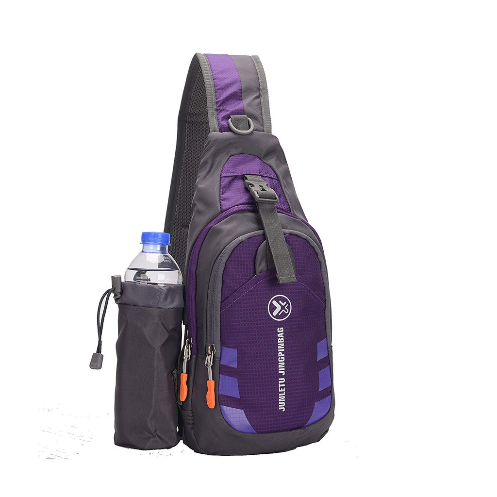 Sling Backpack, Waterproof with Detachable Water Bottle Holder - BelCorner