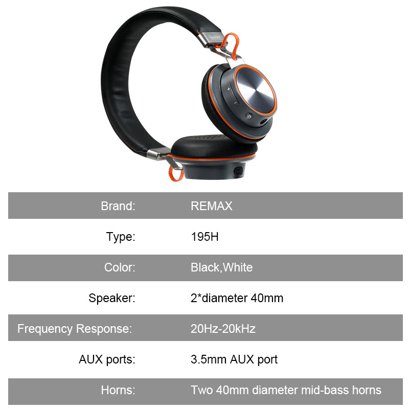 Remax Bluetooth Wireless Headphones, Hands Free Headset over-ear headphone with microphone - BelCorner
