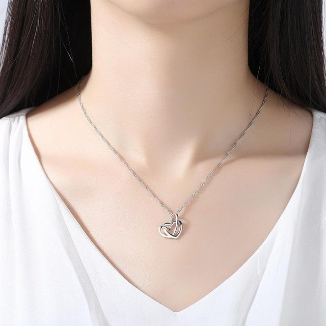 Fantastic Heart Pendant Heart Shaped Necklace - BelCorner