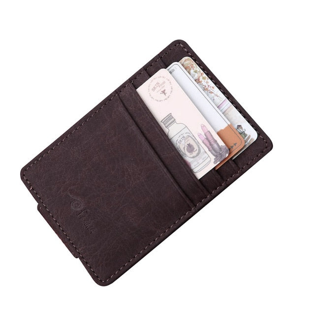 Fashion Men credit card holder Leather Card Cash - BelCorner