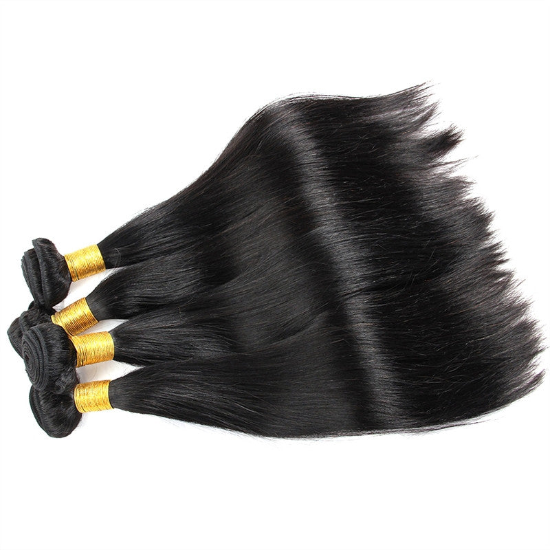 Brazilian Straight Hair Virgin Unprocessed Human Hair Wefts Hair Extensions (8 Inch) - BelCorner