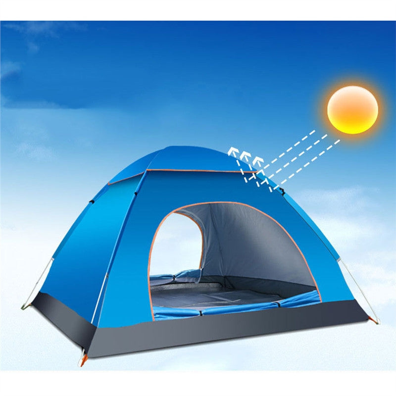 3-4 Person Automatic Folding Tents Family Tents: Beach, Camping, Double Speed to Open Rejection - BelCorner