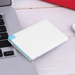 Ultra Slim Portable 2000mAh External Battery USB Power Bank For Cell Phone - BelCorner