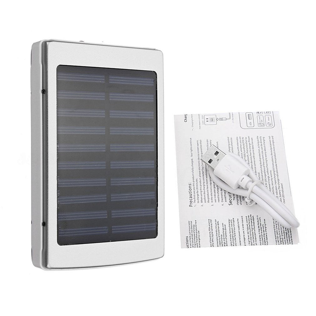 50000mAh Large Capacity Solar Panel Power Bank External Phone Battery Charger - BelCorner