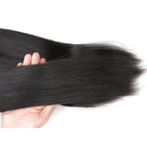 Long Straight Hair Peruvian Human Virgin Straight Hair 3 Bundles Unprocessed Human Hair Weave - BelCorner