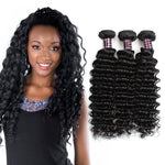 Human Virgin Hair Brazilian deep wave Hair 3 Bundles Unprocessed Human Hair Weave - BelCorner