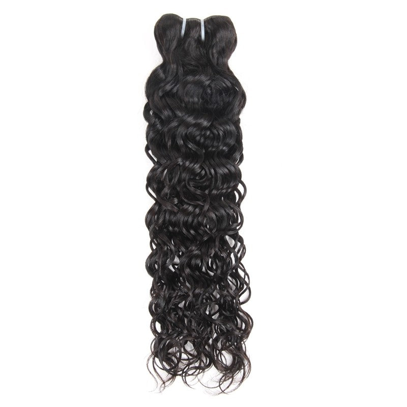 Hair bundles Malaysian Unprocessed water wave Virgin Human Hair 3 Bundles With Lace Closure hair weaving human virgin hair bundles - BelCorner