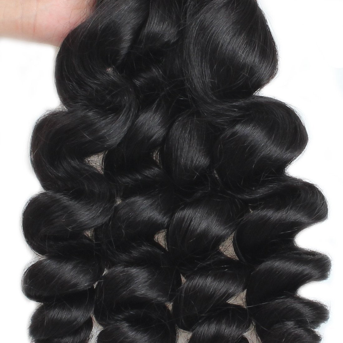 Brazilian  unprocessed loose wave Virgin Human Hair 3 Bundles With Lace Closure hair weaving human virgin hair bundles with closure - BelCorner