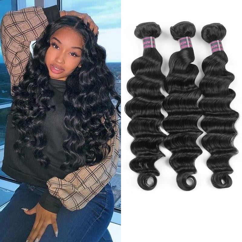 Easy Virgin Peruvian Hair Loose Deep Hairstyle Hair Bundles 3 pcs a lot - BelCorner