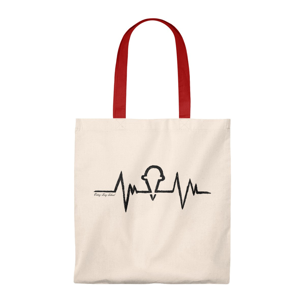 """Ice Cream Heartbeat"" Tote Bag - Vintage"