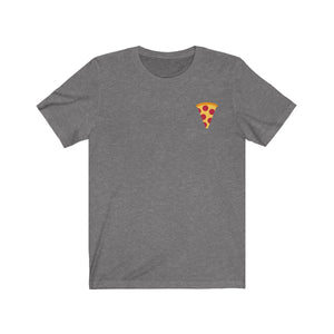 """EATING LONG ISLAND PIZZA SLICE"" Unisex Jersey Short Sleeve Tee"