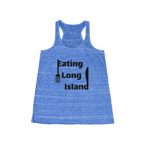 """Eating Long Island"" Women's Flowy Racerback Tank"