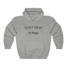 "Load image into Gallery viewer, ""Don't Speak I'm Hangry"" Unisex Heavy Blend™ Hooded Sweatshirt"