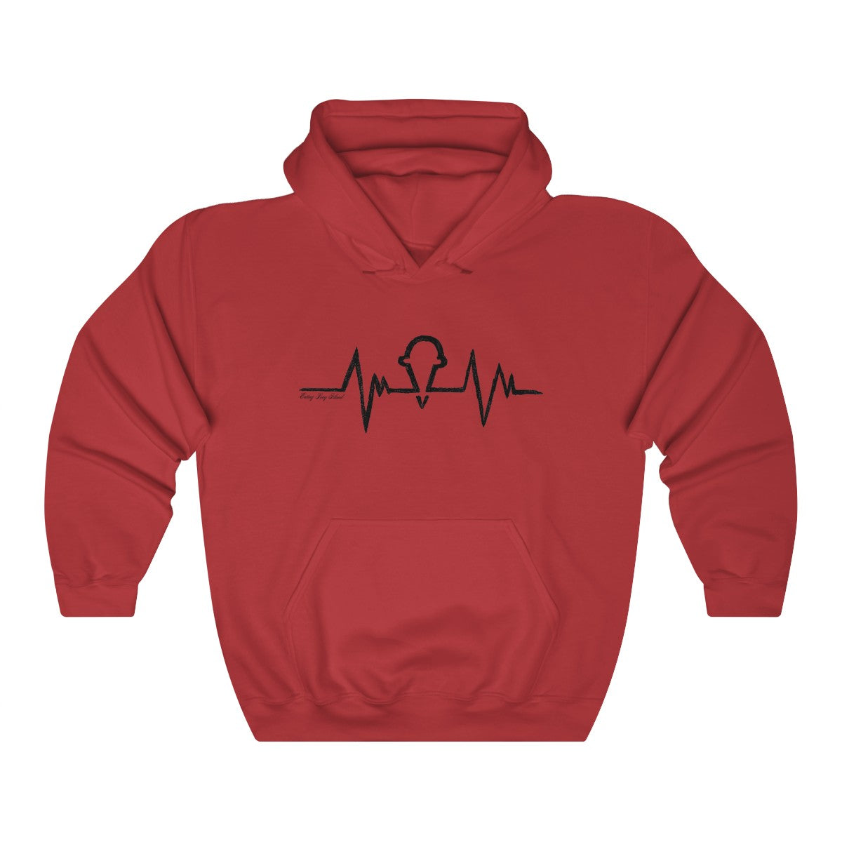 """Ice Cream Heartbeat"" Unisex Heavy Blend™ Hooded Sweatshirt - Eating Long Island Inc."