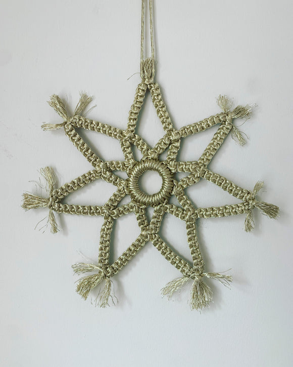 Large Metallic Snowflake