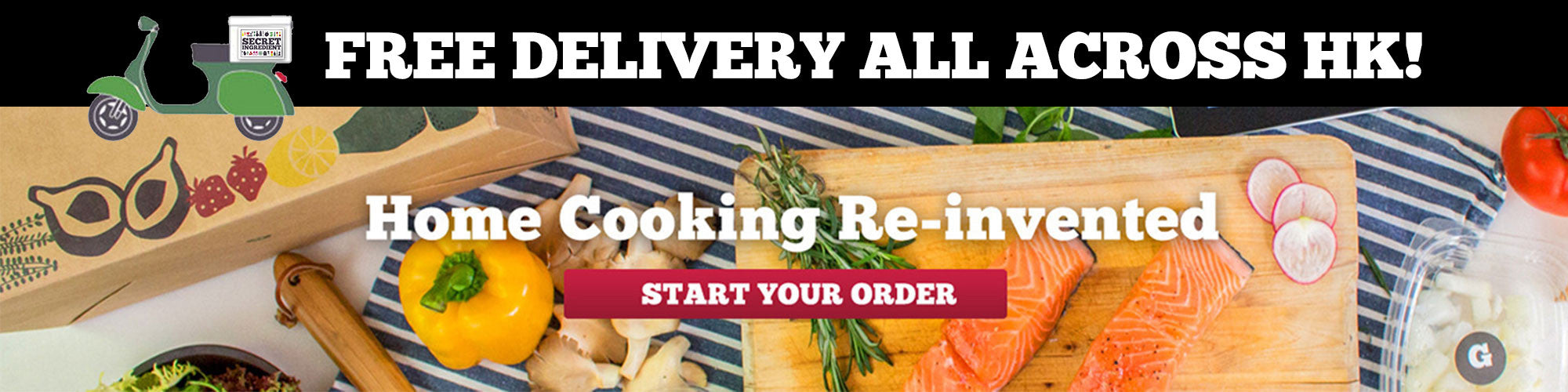 Food delivery hong kong meal delivery hong kong secret ingredient choose a recipe online and we deliver all the ingredients plus step by step instruction to home cook a delicious meal in less than 20 minutes forumfinder Gallery