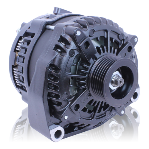 Mechman 250 Amp Black High Output Alternator - Chevy/GMC Tahoe, Suburban, Escalade, and Silverado ('96 - '04)