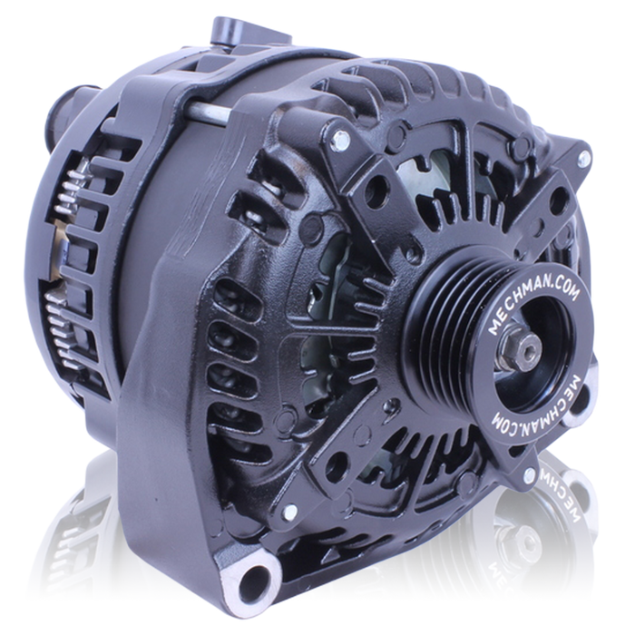 Mechman 320 Amp High Output Black Alternator - GMC/Chevy Tahoe, Suburban, Silverado, and Escalade ('96 -'04)