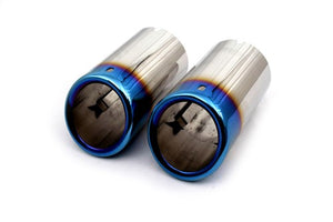Blue Framed Muffler Tips (Bolt-On Style)