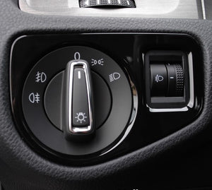 Head Light Switch Panel Cover (Piano Black)