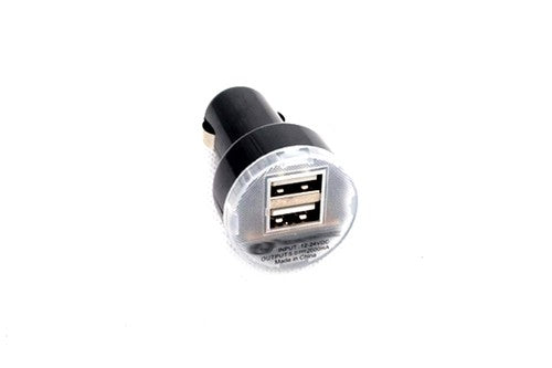 12V Electric Socket USB Charger Converter - Black Color