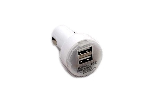 12V Electric Socket USB Charger Converter - White Color