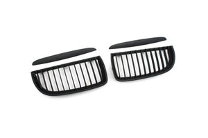 Matt Black Sport Style Front Grille Replacement - E90