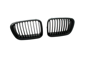 Matt Black Sport Style Front Grille Replacement - E46 Sedan