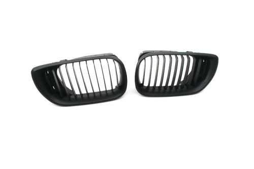 Matt Black Sport Style Front Grille Replacement - E46 Sedan Facelift