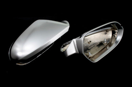 S Line Style Matt Chrome Side Mirror Cap Replacement - A6 C7