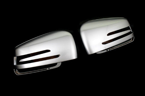 Matt Chrome Side Mirror Cover Cap - W204 / W212 / W221